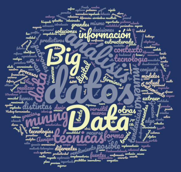 tecnodatex big data análisis textos analytics corpus estadística minería